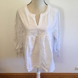 Time and Tru white puff 3/4 sleeve top size XL